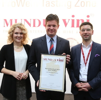 Mont Destin MUNDUS VINI results of 2015