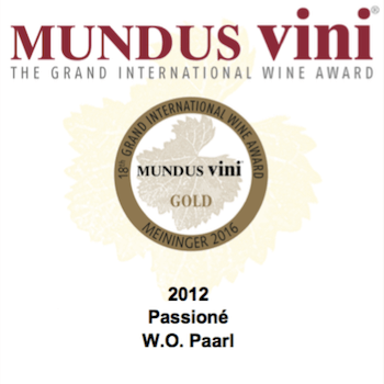 MONT DESTIN MUNDUS VINI RESULTS OF 2016